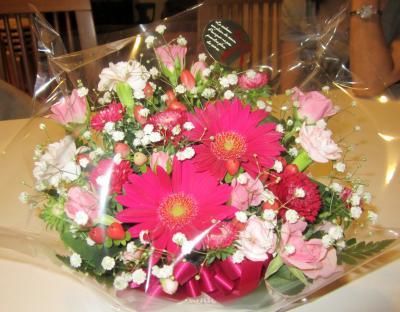 いただいたお花 ガーベラがとっても綺麗