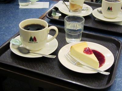 おいしいコーヒーとチーズケーキ