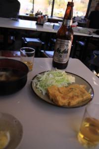 ビールと卵焼き