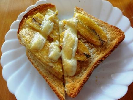 バナナトーストバレンタイン
