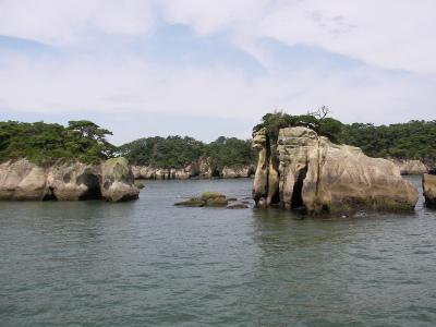 松島の奇岩群