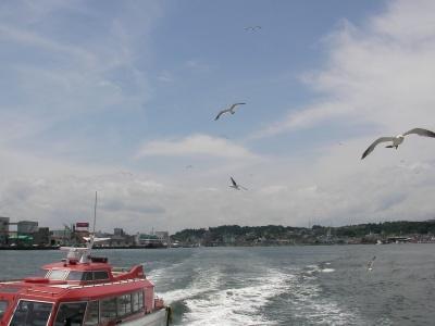 山寺の帰り、おとーは塩釜から遊覧船に乗ったらしい