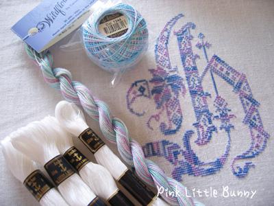 新しい刺繍糸