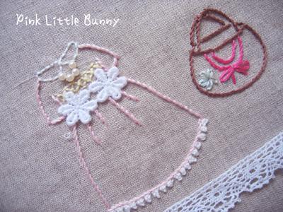 ワンピース刺繍