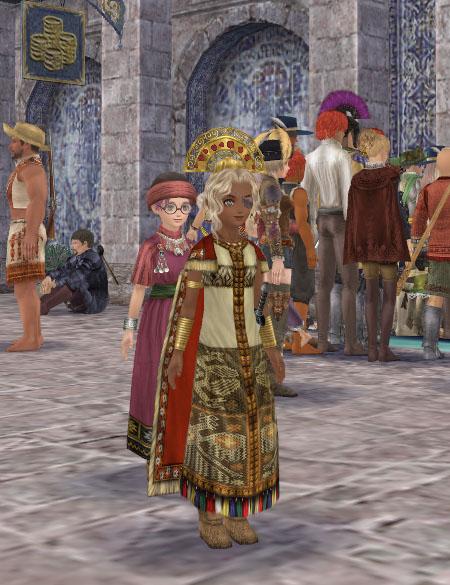 チブチャ族長の装束とルミノソコロナ