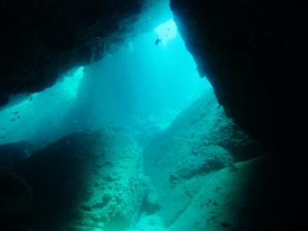 タオ島 ダイビング レッドロック スイムスルー