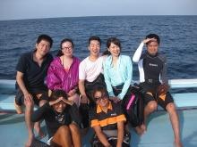 タオ島 ダイビング アジアダイバーズボート 集合写真