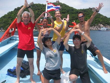 タオ島ダイビング 記念ダイブ