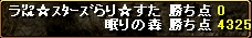 RED STONE弓Gvポイント結果