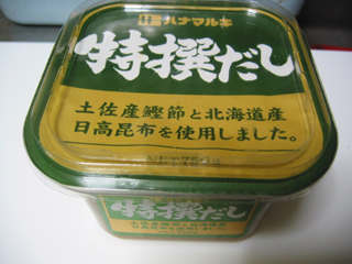 材料(味噌)