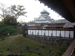 庭園から小倉城