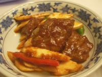 牛肉のピリ辛炒め