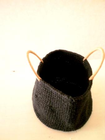 麻ひも編みかばん バッグ 黒ナッツシーンNutscene(ナッツシーン) 持ち手クラフト 2011-06-08