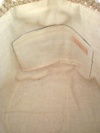 麻ひも編みかばん バッグ 内布のつけ方2011-06-8-7