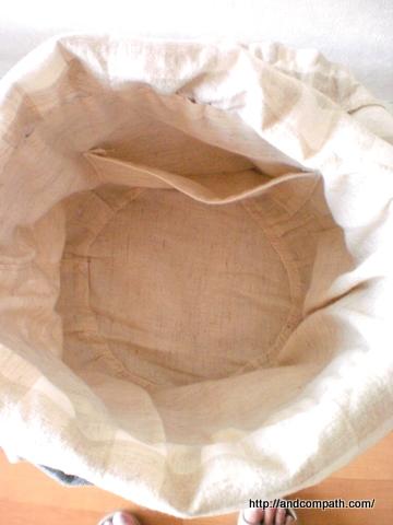 バッグの内布