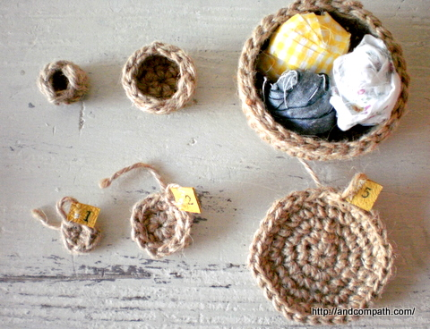 麻ひも編みかごワークショップ 教室