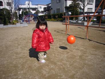 優花公園でボール遊び