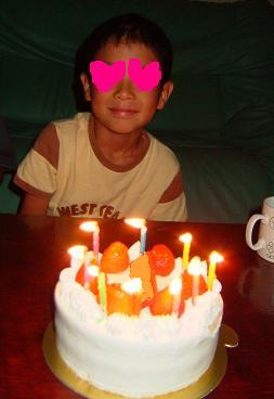 長男9才誕生日2