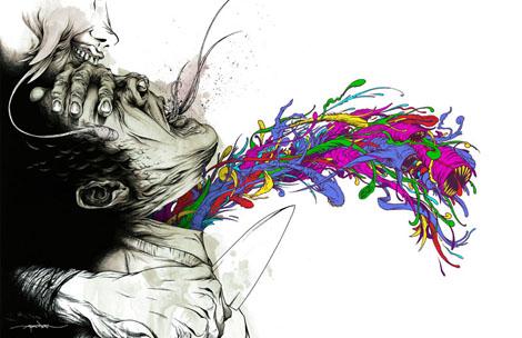 寄生獣アート - Alex Pardee