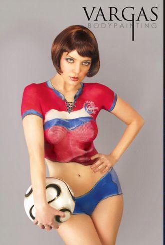 サッカーユニフォームのようなSexyボディペイントいろいろ ver2.0