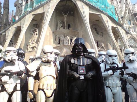ダースベーダー & ストームトルーパー in Sagrada Familia
