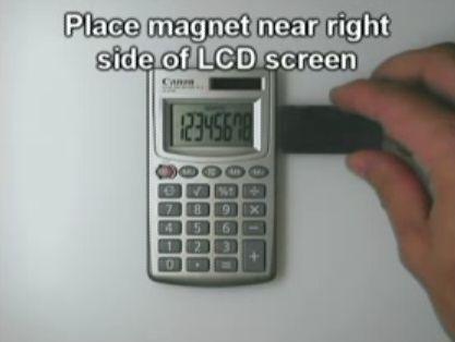 磁石は電卓の数字を1回だけ記憶できる