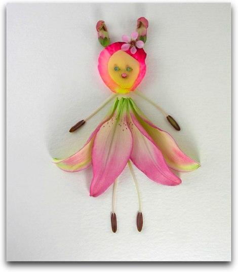 花びらで作られたかわいらしいアート