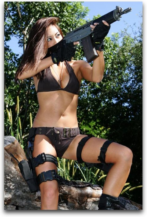Girls And Guns - Sexy Girls Firing Automatic Weapons!