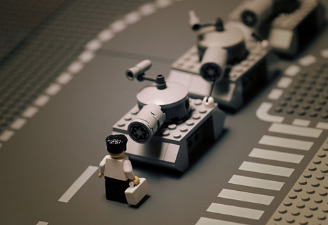 Tiananmen Square in LEGO