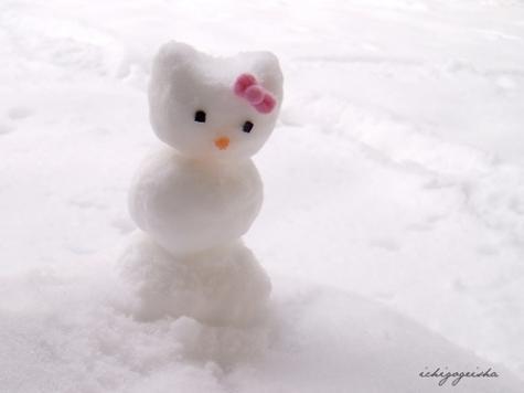 雪だるまアート