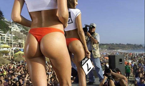 無駄にエロいお尻コンテスト - Reef Bikini Contest