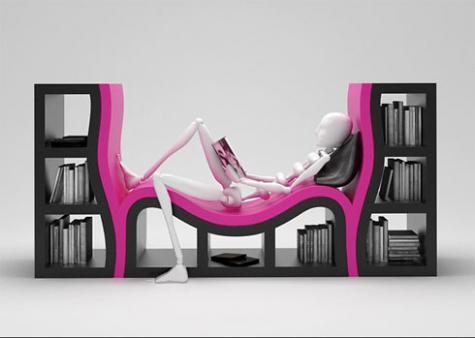 斬新なアイデアで作られた本棚いろいろ