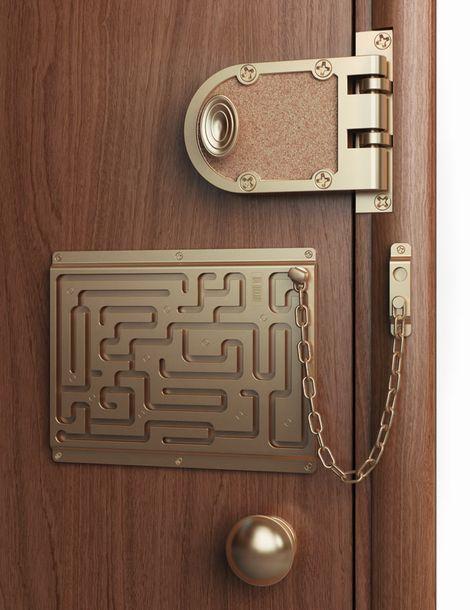 迷宮のようなドアの鍵「Defendius door chain」