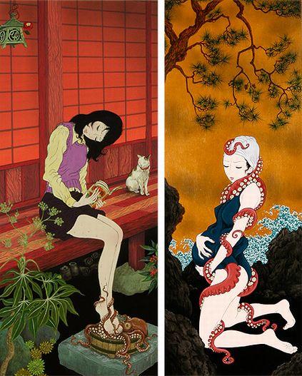 漫画と日本画とエロティシズム「森口裕二」
