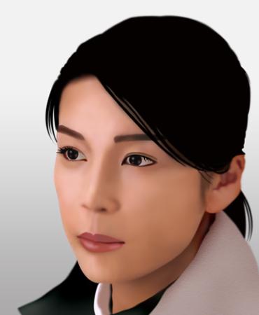 竹内結子さんの似顔絵