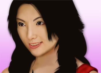 田中麗奈さんの似顔絵