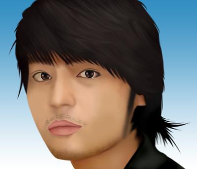 山田孝之さんの似顔絵