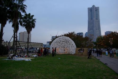 横濱運河パークリングドームで待ち合わせ1