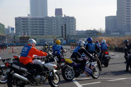 江戸川 警視庁 二輪練習中
