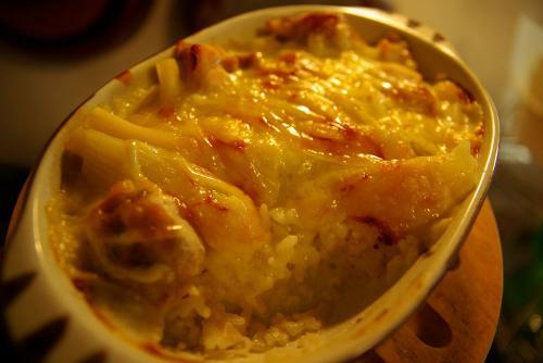 グラタン+ご飯=ドリア