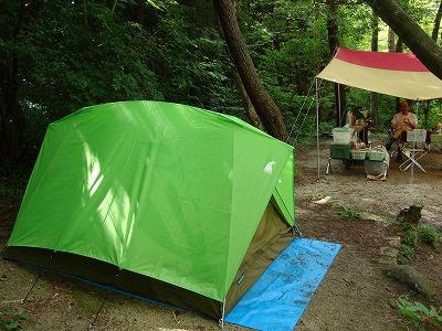 保古の湖キャンプ場にて