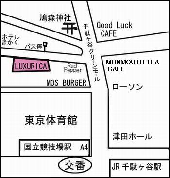 LUXURICA地図
