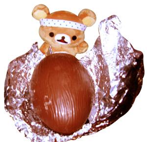 中から大きなチョコレートがっ!!