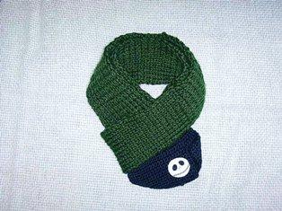 手編みのマフラー♪