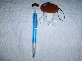 ドコモダケのボールペンとストラップ♪