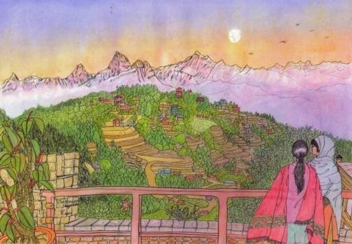 ブログ用ヒマラヤの夕映え2.jpg