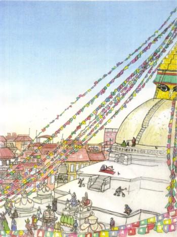 ブログ用ボダナート寺院