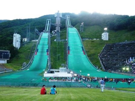 長野県白馬村のジャンプ台