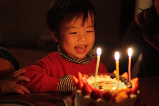 次男の3歳の誕生会