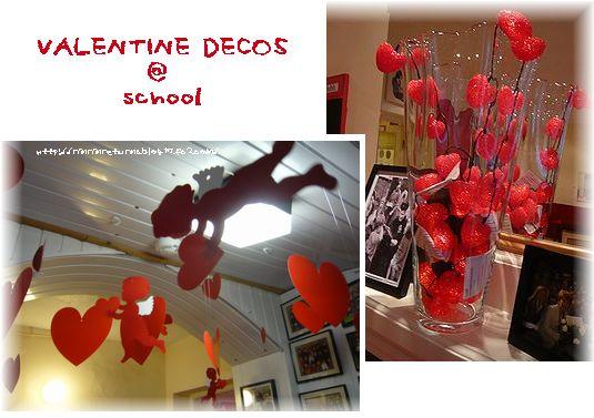 valentine deco @ school